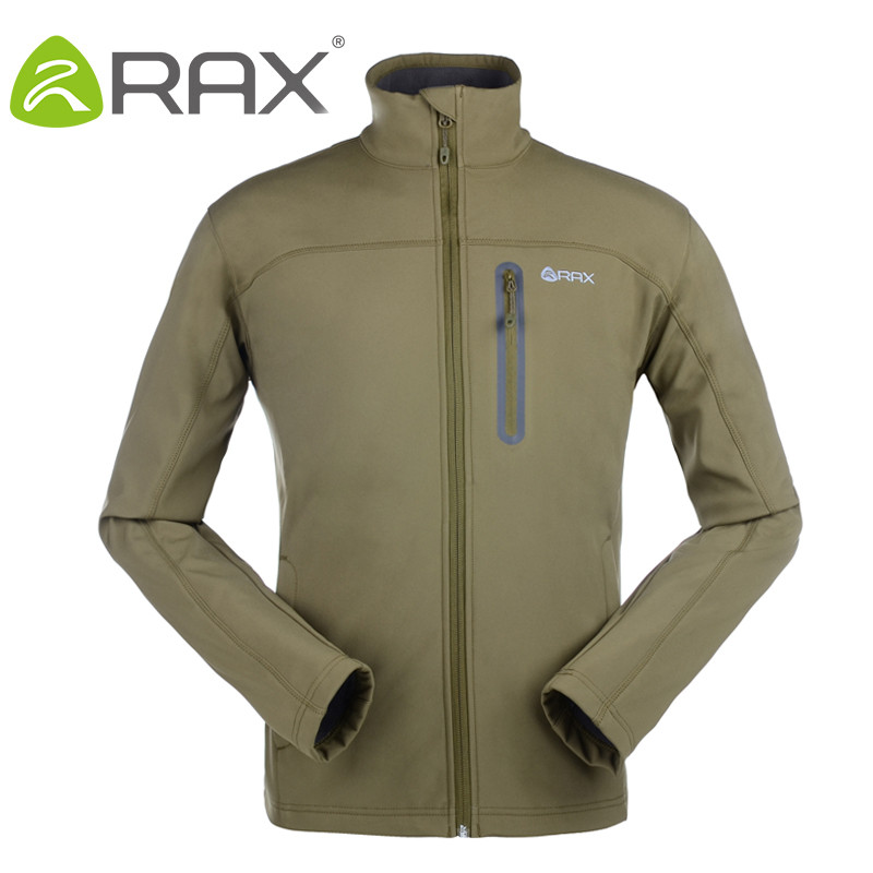 RAX Outdoor Fleece SoftShell Warm Jacket Waterproof Warm Windproof Jacket Softshell Breathable Men Women Outdoor Windbreaker outdoor breathable softshell jacket men s black tactical hunting waterproof windproof jacket soft shell with fleece lining