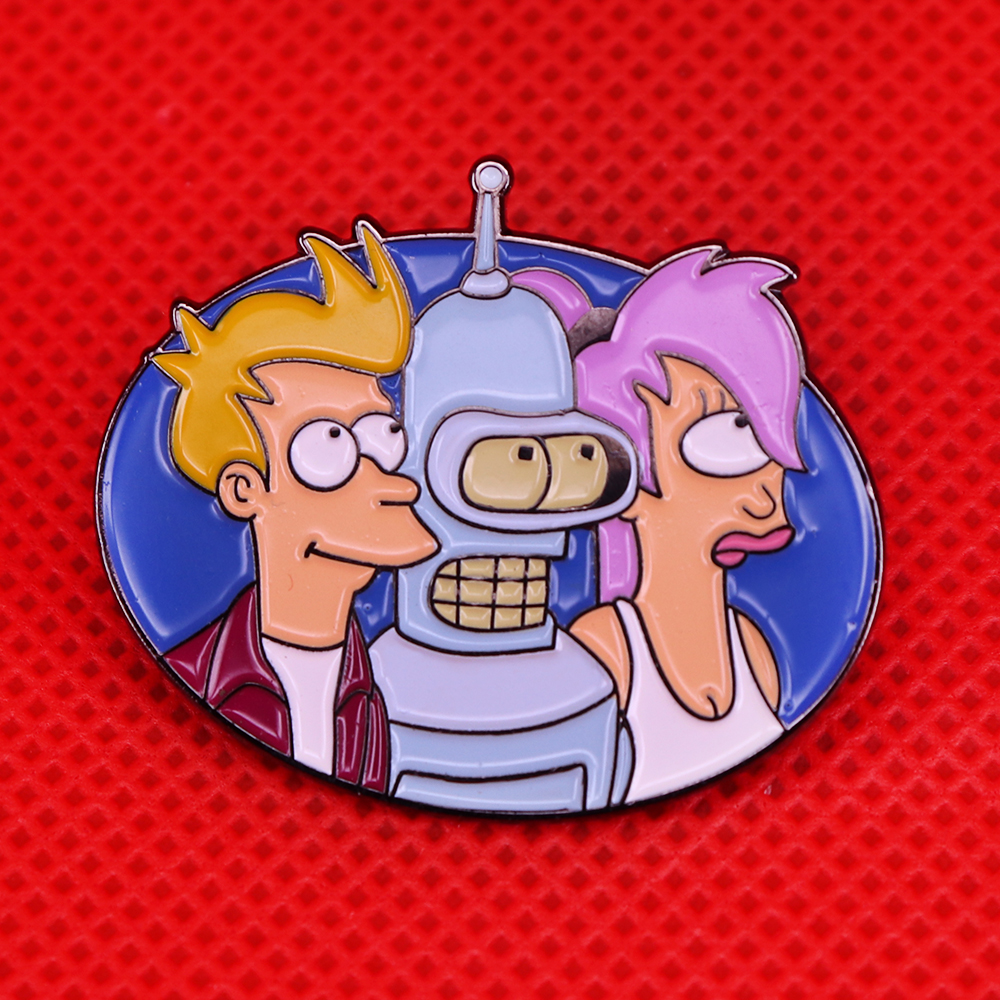 Futurama Custom Enamel Pin Lot Of 3 Bender Fry Zoidberg