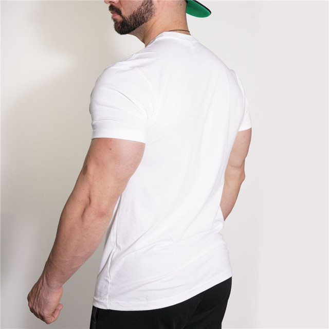 YEMEKE 2018 Men's T-shirt Casual Tees Bodybuilding Fashion Brand Clothing Man Fitted Workout Compression Shirts for Men 1