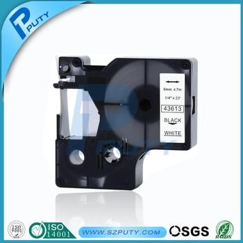 20PK compatible DYMO D1 black on white tape 43613