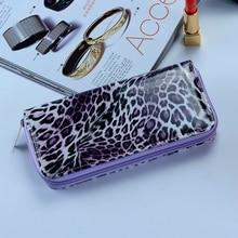 NEW ARRIVAL Summer wallet PU Clutch bag  high quality Leopard Wallet zipper leather ladies wallets Billetera