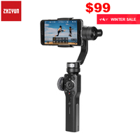 Zhiyun Smooth 4 3 Axis Handheld Smartphone Gimbal Stabilizer for iPhone XS XR X 8Plus 8 7Plus 7 Samsung S9 S8 S7 & Action Camera