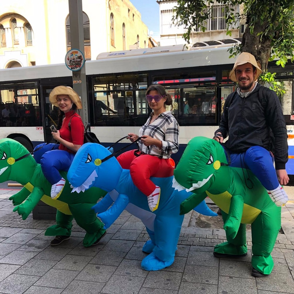 Adult Or Kids Inflatable Ride On Walking  Dinosaur Animal Cosplay Costume  Halloween Costumes For Women Man Childre Fancy Dress