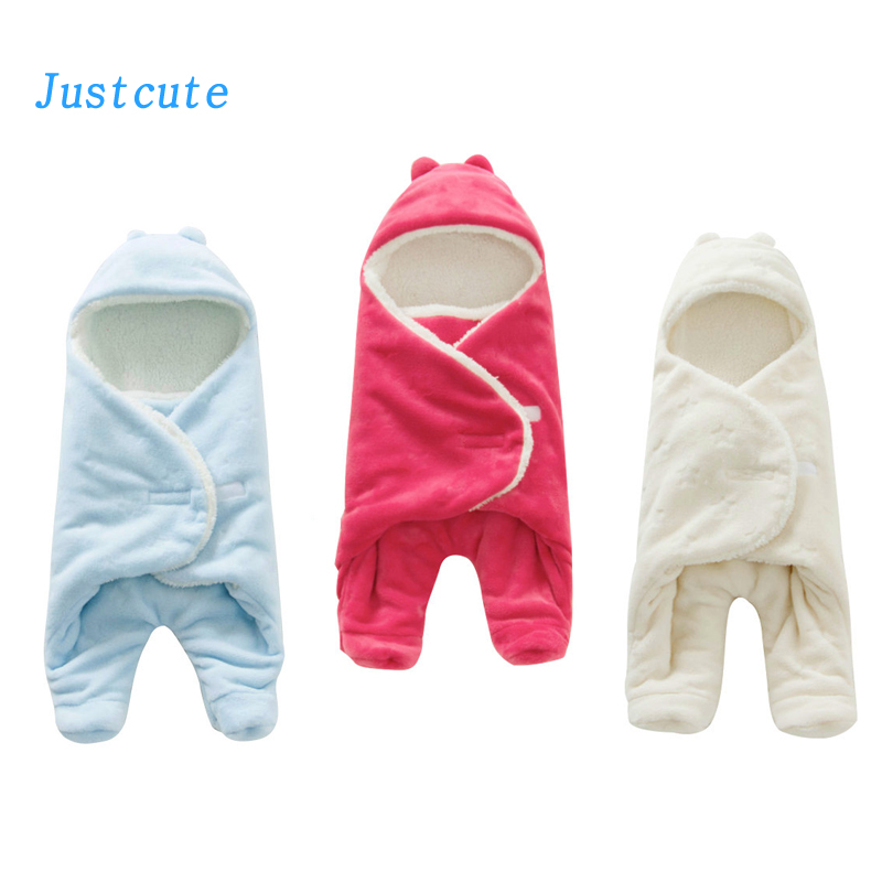 0-1 Year Old Baby Warm <font><b>Sleeping</b></font> Bag Flannel Newborn Blanket Swaddle Toddler Sleep Clothes Cute Soft 3d Design For Bed Stroller