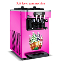 110V/ 220V THREE Flavors 18L 22L/H Commercial Soft Ice Cream Machine Sweet Ice Cream Maker Ice Cream Maker R410 or R404