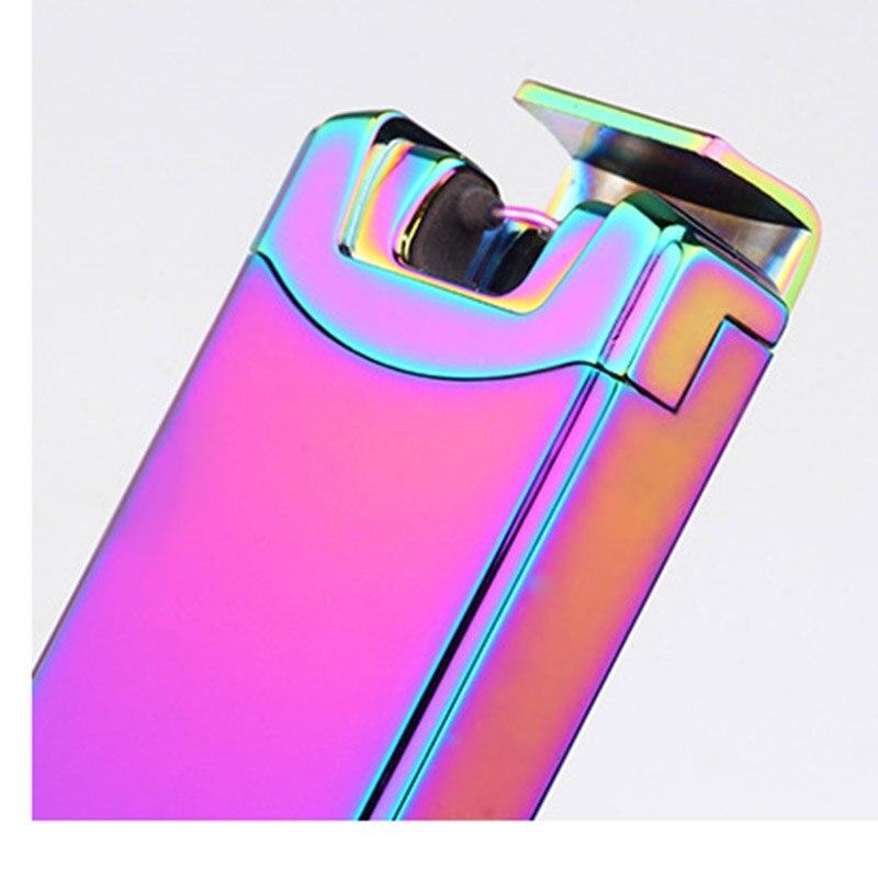 10pcs/lot wholesale windproof arc smoking lighter encendedor lighter portable bar electronic cigarette USB rechargeable lighter