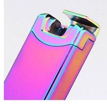 10ชิ้น/ล็อตขายส่งwindproof arcสูบบุหรี่เบาencendedorเบาบาร์แบบพกพาบุหรี่อิเล็กทรอนิกส์แบบชาร์จไฟUSBเบา