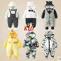 Macacão de inverno bebê macacão bebek giyim bebê recém-nascido macacão de bebê menino roupas de inverno infantil bebê snowsuit encapuzado romper KD069
