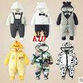 Mamelucos del invierno del bebé del mono giyim bebek bebé recién nacido de los mamelucos del bebé ropa infantil de invierno bebé traje para la nieve con capucha mameluco KD069