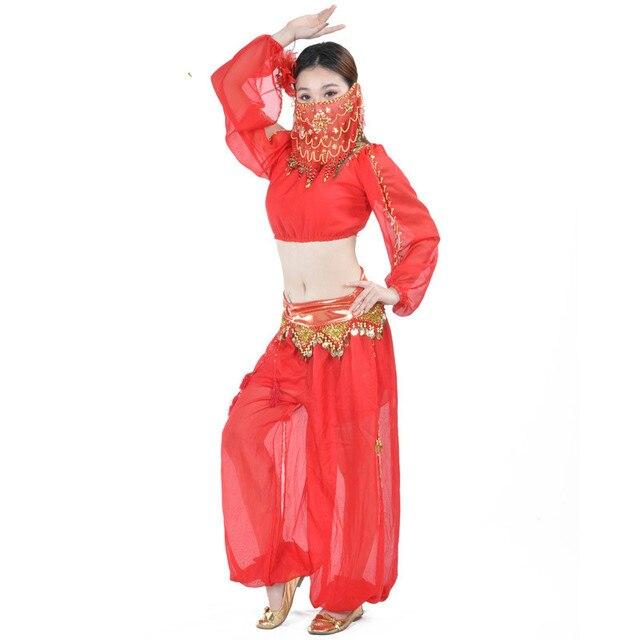 Juego unids de trajes de danza del vientre para mujeres 3 piezas (Tops +  Pantalones 7b18d845f34