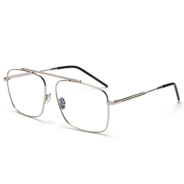 mimiyou High grade Square Eyewear Optical Clear Aviator Women Men ...