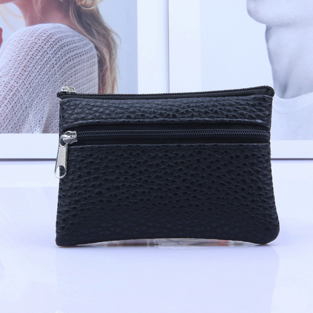 Card Wallet Purse Zipper Women Coin -15 Multi-Functional