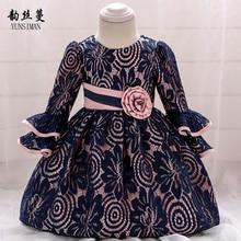 dacab4120cd82 Marque bébé robe pour nourrisson 3 6 9 12 18 24 mois fleur brodée princesse  dentelle robe 1 an anniversaire enfant en bas âge Ro.