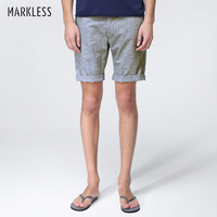 Markless Summer Casual Men S Shorts Male Linen And Cotton Straight Skinny Short Cool Breathable Man