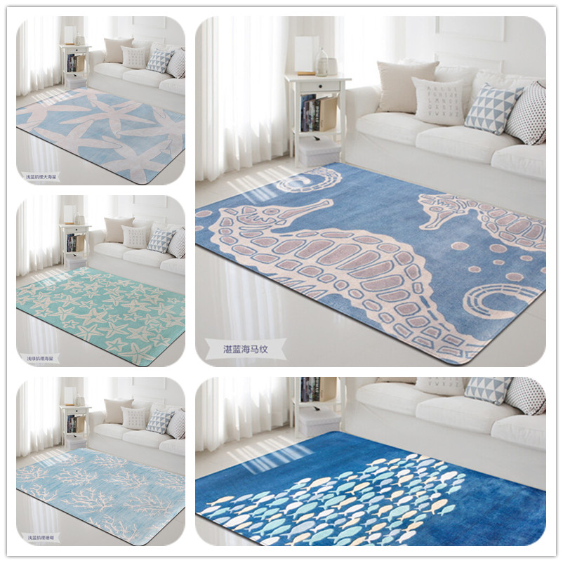 Us 62 3 30 Off Personalized Marine Animal Print Carpets For Living Room Mat Rugs Child Baby Bedroom Crawl Area Rug Kids Decor Carpet In