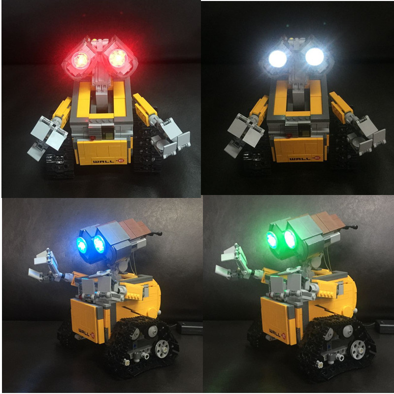 Led light kit (only light kit included) for LEGO 21303 and 16003 Idea Robot WALL E Building Set KitsToys eyes light 2017new lepin16003 idea robot wall e building set kitstoys e kits blocks single sale brickstoystoys for childrenbirthdaygifts