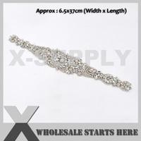 Iron On Rhinestone Patch For Clothes Bridal Wedding Dress Headband Hat Bag
