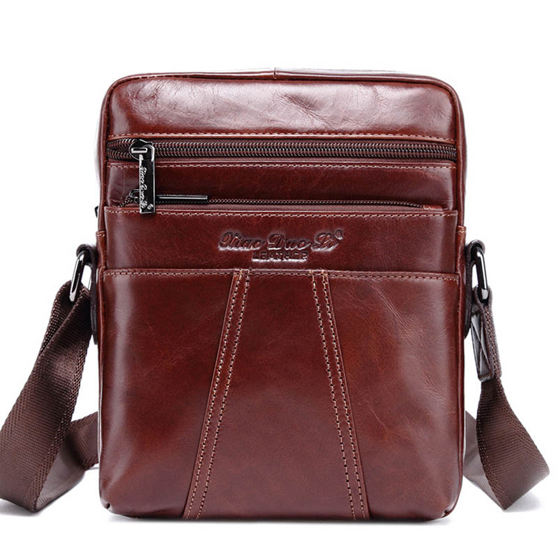 100% First Layer Genuine Leather Cross Body Shoulder Bag Men's Messenger Bags 8' Male Cowhide Casual Pack For Mini Ipad brand genuine leather casual chest pack sling bag men s cross body shoulder bags male cowhide messenger bag for ipad mini wallet