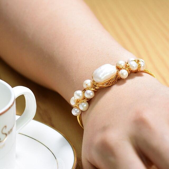 Купить glseevo натуральный пресноводный жемчужные браслеты барокко картинки цена