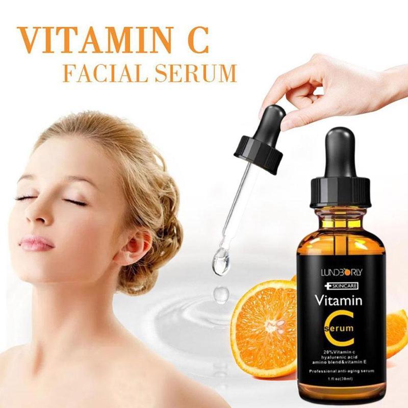 New 30ml Facial Serum Vitamin C Vitamin E Essence Organic Moisturizing Essence Skin Care Anti-Wrinkle Lifting Tight Whitening