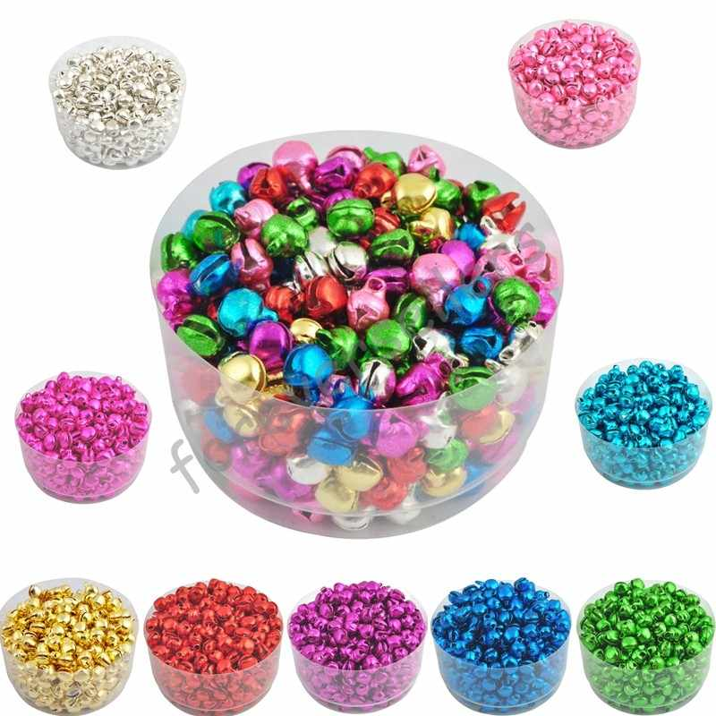 Sale 6MM 100 pcs/lot Loos Small Christmas Jingle Bells  Decoration  Colorful/Mix Colore Party DIY Beads