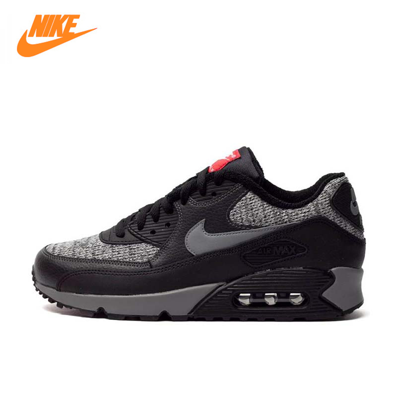 NIKE Men's AIR MAX 90 ESSENTIAL Breathable Running Shoes,Original New Arrival Official Sports Sneakers Tennis shoes nike original 2017 summer new arrival air max 90 women s running shoes sneakers