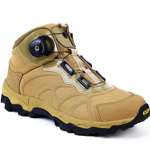 Zapatos de cuero de Gamuza botas de nieve de los hombres botas ESDY OUTDOOR de reacción Rápida sistema de lazado BOA Botas de Un guerrero combat Escalada botas