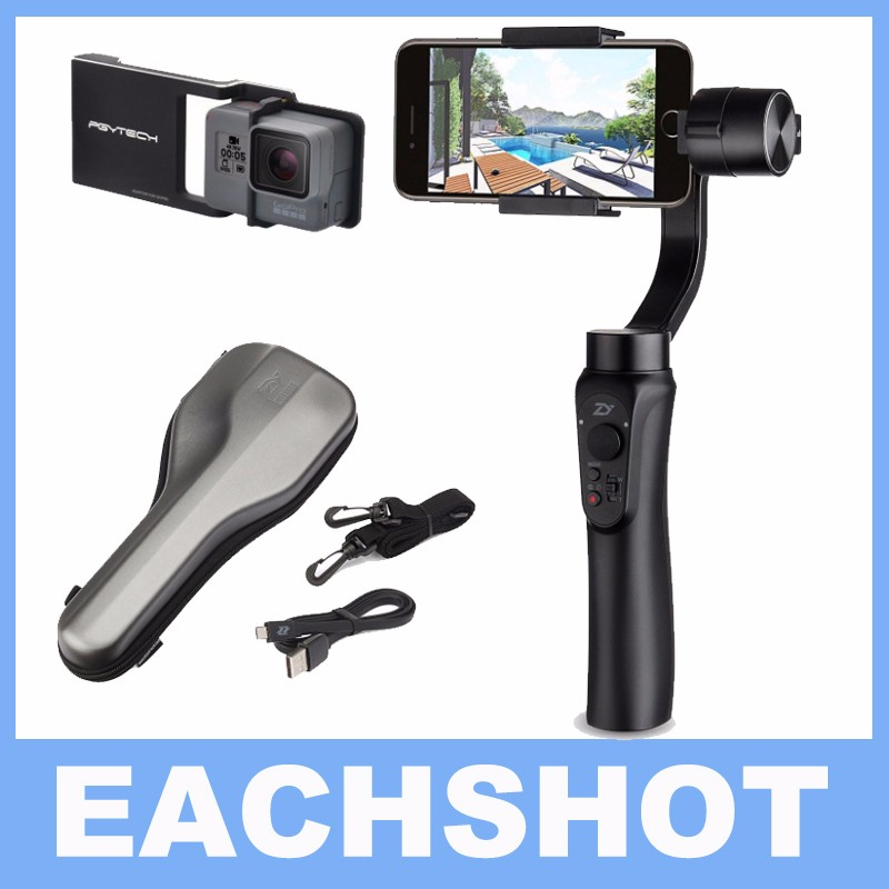 Zhiyun Smooth-Q smooth Q 3-Axis Handheld Gimbal Portable Stabilizer for iPhone 7 6 6s + Smooth Plate suit for Gopro Hero 5 4 3 ulanzi zhiyun smooth q handheld 3 axis smartphone gimbal video stabilizer for iphone 7 samsung gopro hero 5 4 sjcam yi cameras