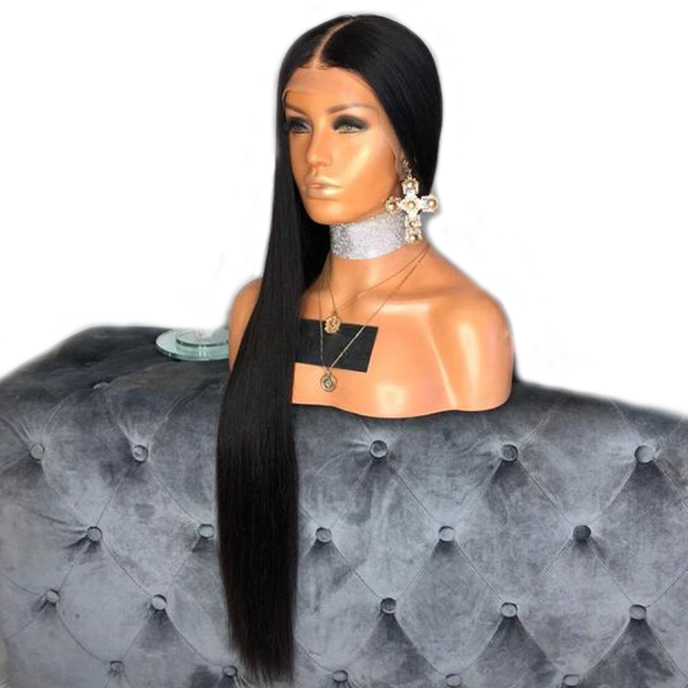 Deep Part 13x6 Lace Front Human Hair Wigs For Women Black Color Preplucked Lace Wigs With