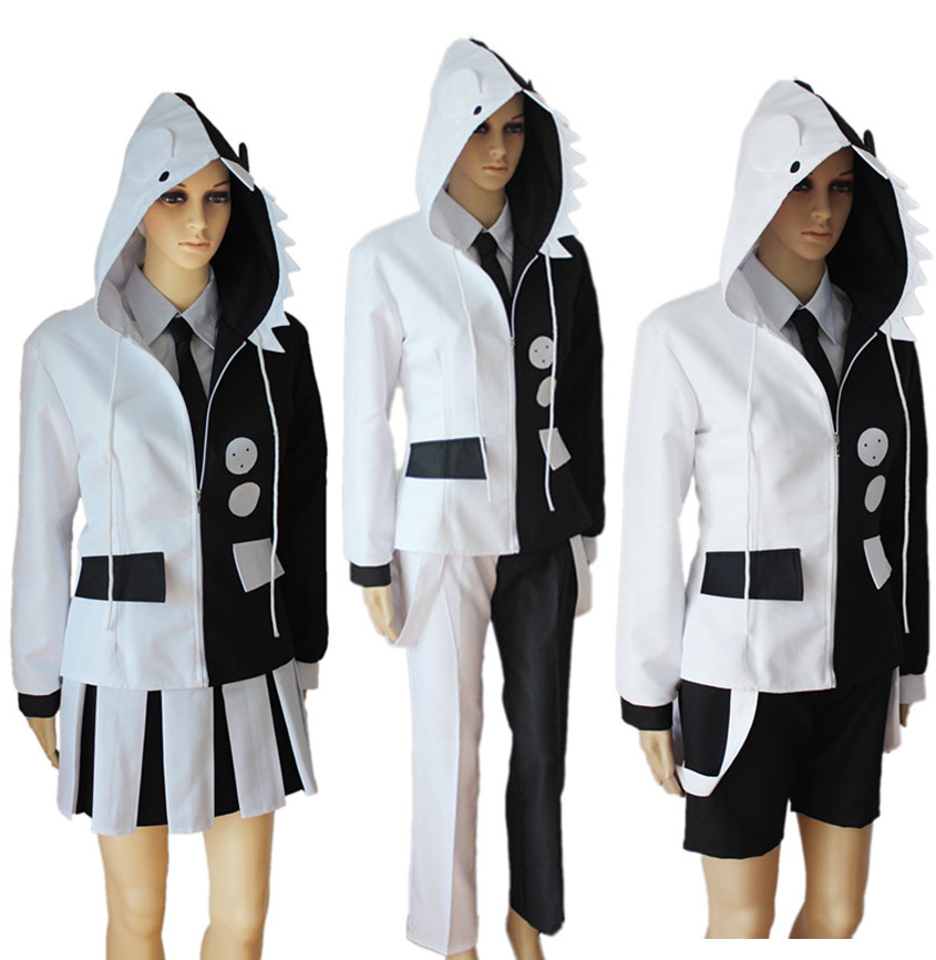 3Styles Danganronpa Monokuma Jacket Cosplay Costume Dangan-Ronpa Trigger Happy Havoc Full Set Uniform Halloween Costumes