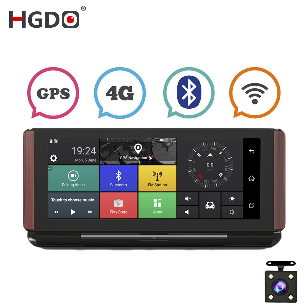 HGDO Car DVR Dash-Cam Registrator Video-Recorder Dual-Lens Wifi Bluetooth Android Full-Hd
