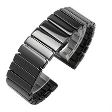 Bracelet de montre en céramique, pour samsung Galaxy gear s3 Galaxy 46mm 42mm active Watch s2 20mm 22mm