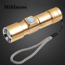 Mini USB Torch LED Rechargeable Flashlight with Magnet Handy Powerful Hunting Bike 18650 Cree Waterproof