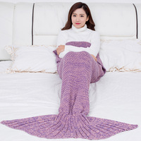 GZTZMY 195*95CM Large Size Knit Blankets for Beds Mermaid Blanket Adult Mermaid Tail Blanket for Girl Plaid Christmas Gift