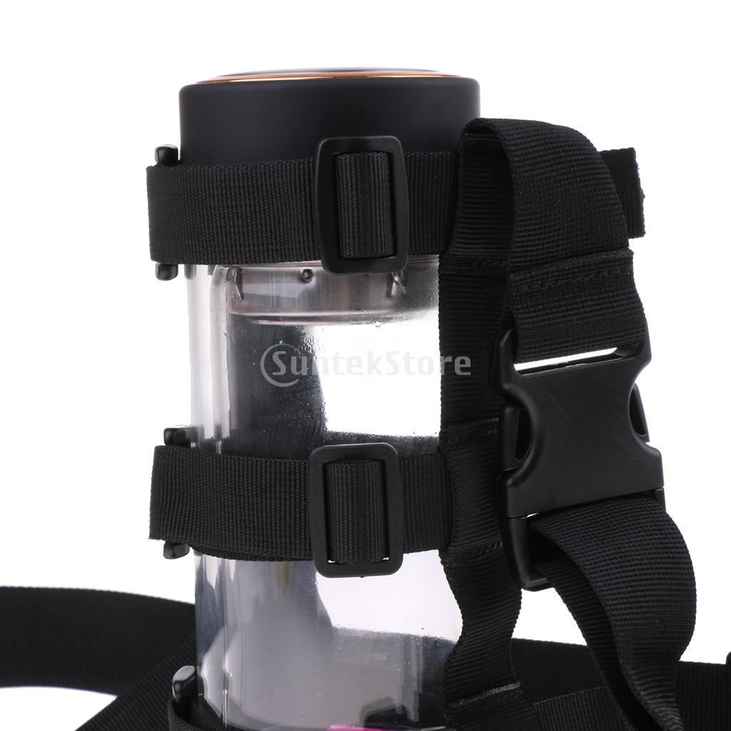 Adjustable Cycling Hiking Water Bottle Carrier Holder Sling Webbing