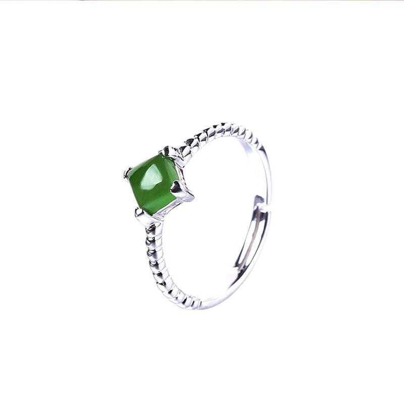 2019 ограниченное по времени ограниченное количество Anel Masculino Anel натуральное кольцо для женщин 925 Стерлинговое открытие Hetian Gem женские Символ... - 5