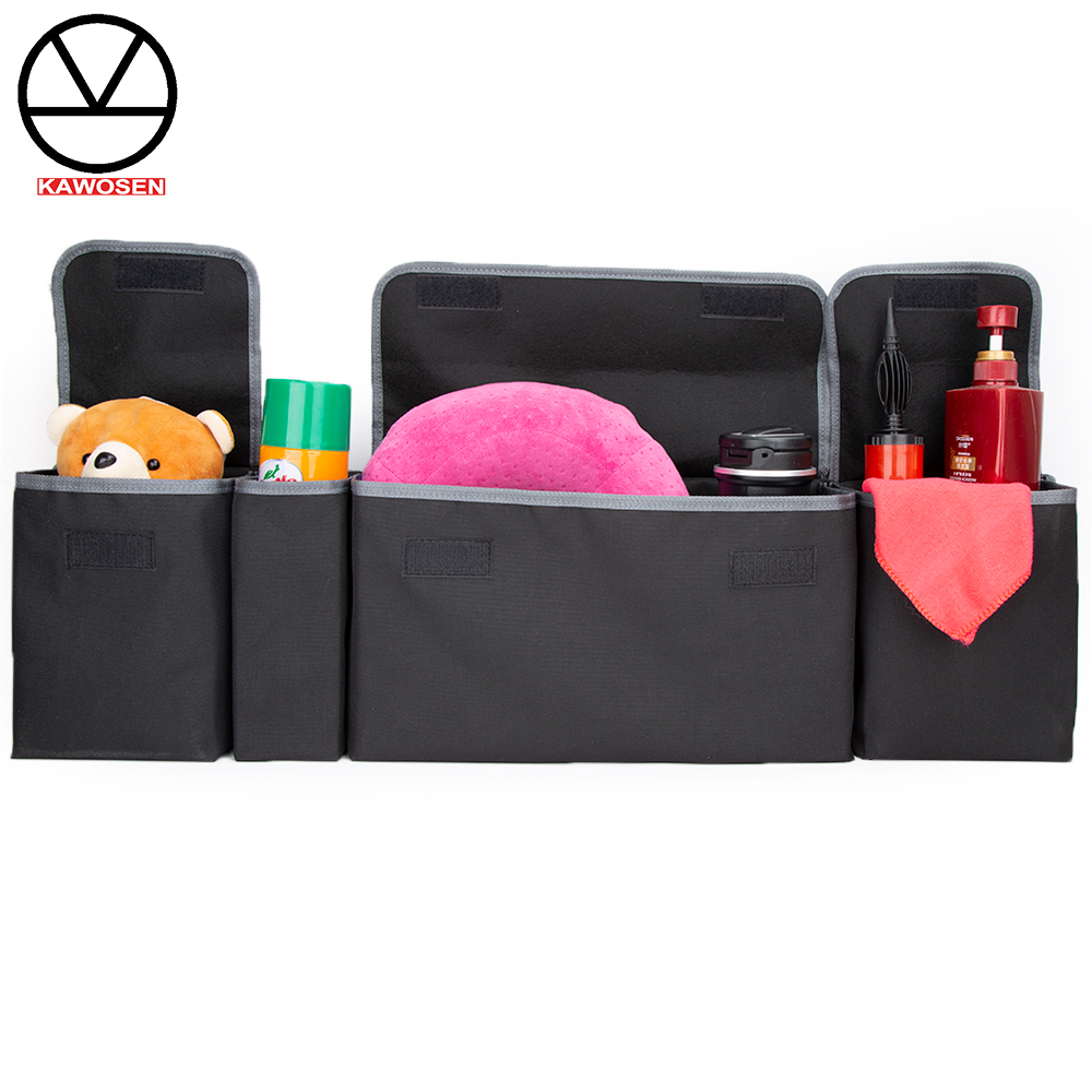 KAWOSEN Car Trunk Organizer Adjustable Backseat Storage Bag High Capacity Multi use Oxford Automobile Seat Back Organizer CTOB02-in Rear Racks & Accessories from Automobiles & Motorcycles