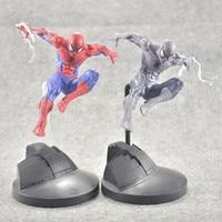 15cm Marvel Spider Man Red Grey Version Pvc Anime Figure Toy Cartoon Amazing Spider Man Display