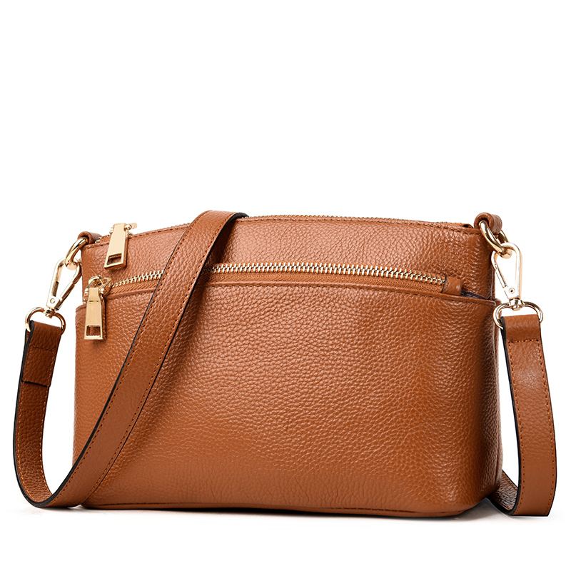 2018 Multi Pockets Genuine Leather Shoulder Bags Female Small Luxury Handbags Women Bags Designer Vintage Woman Crossbody Bag