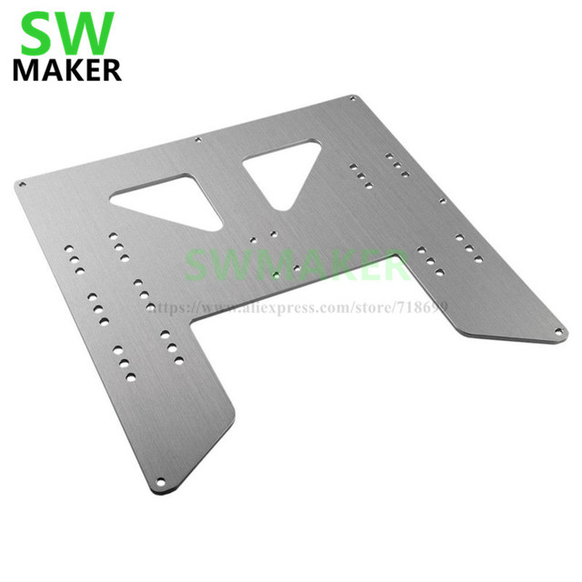 SWMAKER Anet A8 E10 Y-Carriage pelat upgrade Anet A8 A6 3D Printer Upgrade Y Carriage Plat Aluminium Anodized