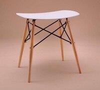 100% деревянный табурет, дерево и Пластик стул, красный, белый, синий, стул, мебель для гостиной, ждать стул, барный табурет, деревянная мебель