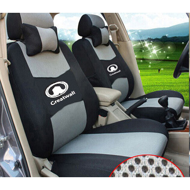 grey/red/beige/blue Embroidery logo Car Seat Cover Front&Rear complete 5 Seat For Greatwall HOVER H1 H2 H5 H6 H8 H9 Four Seasons grey red beige blue embroidery logo car seat cover front