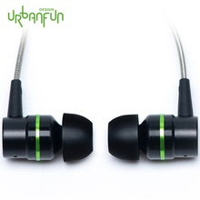 URBANFUN Flagship Version 3 5mm HiFi Hybrid Technology Earphone Subwoofer with Microphone for iPhone Android Phone