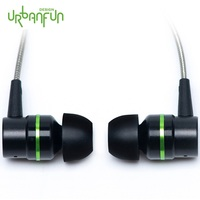 URBANFUN Flagship Version 3.5mm HiFi Hybrid Technology Earphone Subwoofer with Microphone for iPhone/Android Phone HY 1