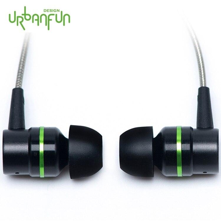 URBANFUN Phare Version 3.5mm HiFi Hybride Technologie Écouteurs Subwoofer avec Microphone pour iPhone/Android Téléphone HY-1