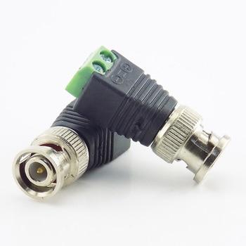 Gakaki 2x conector coaxial CAT5 BNC macho enchufe adaptador DC conector Balun para cámara CCTV sistema de seguridad accesorios de vigilancia