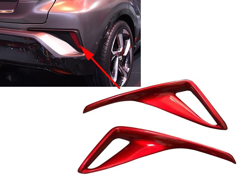 For Toyota C-HR CHR C HR ABS Chrome Rear Fog Light Cover Tail Fog Lights Cover Brake Lights Cover Accessories 2017 2018 3pcs abs chrome rear fog light cover