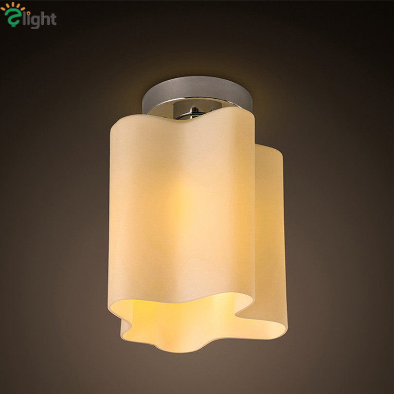 1 Head Modern Simple Cloud E27 Led Chandelier Frosted Glass Corridor Chandelier Lighting 3W Led Bulb