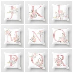 Детская комната украшения Письмо Подушка Чехол английский алфавит чехол для подушки из полиэстера для дивана домашний Декор Цветок Подушка Чехол