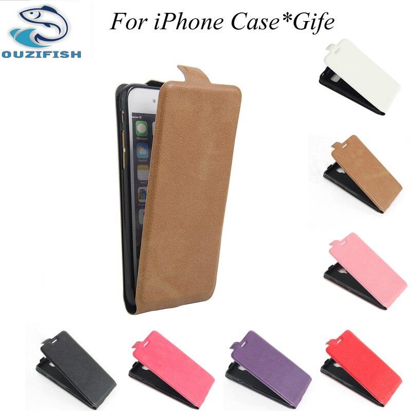 Ouzifish para iphone 7 plus caja de la pu para apple los accesorios del teléfono